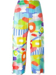 Pleats Please By Issey Miyake Printed Pleated Trousers Multicolour