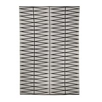 Bloomingville Diamond Print Rug Grey Black