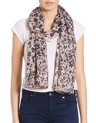 Lord And Taylor Animal Print Scarf Silver