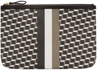 Pierre Hardy Tricolor Perspective Cube Zip Pouch
