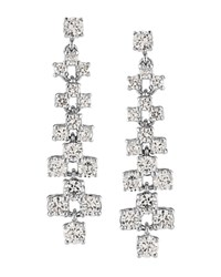 Carolee Pave Drop Earrings Silver
