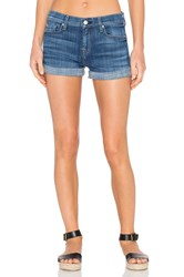 7 For All Mankind Roll Up Short Athens Broken Twill