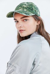 Urban Outfitters Canvas Pattern Baseball Hat Green