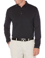 Callaway Golf Performance Heathered Long Sleeve Polo Caviar