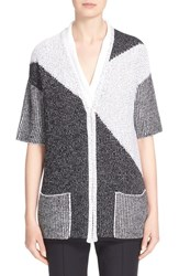 Women's St. John Collection Colorblock Knit Cardigan