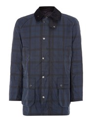 Barbour Tartan Hemming Coat Indigo