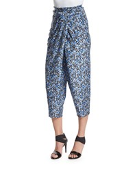Elie Tahari Jodi Tapered Cropped Silk Pants Stargazer Women's