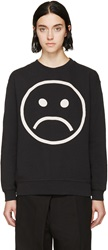 Marc By Marc Jacobs Black Magnified Sad Face Sweatshirt