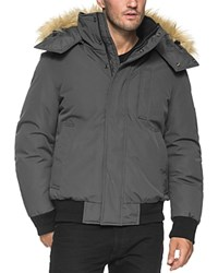 Andrew Marc New York Bristol Faux Fur Trim Jacket Compare At 295 Gray