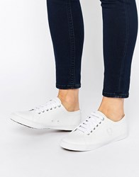 Fred Perry Spencer White Leather Trainers 100 White White