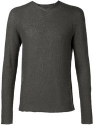 Label Under Construction Fine Knit Fitted Sweater Grey