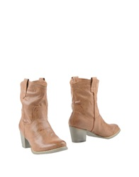 Francesco Milano Ankle Boots Brown