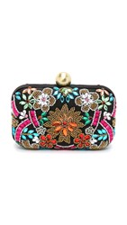 Santi Floral Stone Embellished Clutch Multi