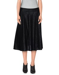 Cutie Skirts Knee Length Skirts Women Black