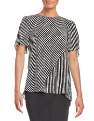 Vince Camuto Patterned Blouse Black
