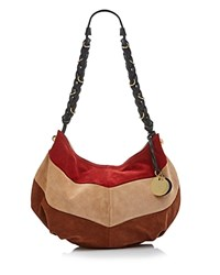 See By Chloe Large Maddie Suede Hobo Poppy Red
