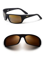 Maui Jim Peahi Wrap Sunglasses Black