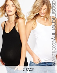Asos Maternity Nursing Cami With Clips 2 Pack Save 14 Multi