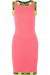 Moschino Knitted Wool Mini Dress Pink