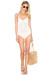 Nightcap Spiral Lace One Piece Swimsuit White