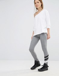 Sundry Stripe Grey Leggings Grey