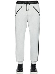 Just Cavalli Western Faux Leather And Cotton Sweatpants