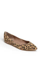 Bp 'Moveover' Pointy Toe Flat Leopard