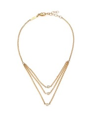 Jacquie Aiche Diamond And 14K Yellow Gold Draped Three Strand Anklet