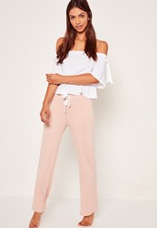 Missguided White Bardot Pyjama Set