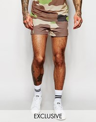 Hype Retro Shorts In Camo Green