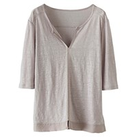 Poetry Silk Trim Jersey Tunic Pearl