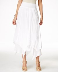 Styleandco. Style And Co. Handkerchief Hem Skirt Only At Macy's Bright White