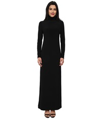 Kamalikulture By Norma Kamali Go Turtleneck Maxi Black Women's Dress