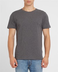 Knowledge Cotton Apparel Grey Organic Round Neck T Shirt