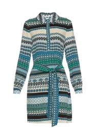 Diane Von Furstenberg Seanna Dress White Multi