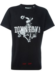 Off White Downtown Print T Shirt Black