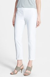 Women's Eileen Fisher Slim Ankle Pant White