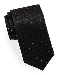 Hugo Mixed Pattern Silk Tie Black
