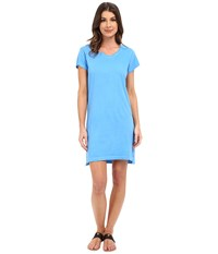 Alternative Apparel Cotton Jersey Legacy T Shirt Dress Clear Sky Pigment Dye Women's Dress Blue