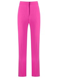 Andrea Marques High Waisted Trousers Pink And Purple