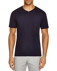 The Men's Store At Bloomingdale's V Neck Cotton Tee Navy