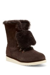 Australia Luxe Collective Yael Genuine Skeepskin And Shearling Boot Brown