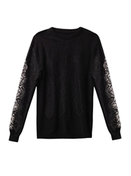 Freda Lace And Cashmere Sweater