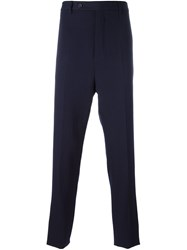 Lanvin Solid Carrot Shape Trousers Blue