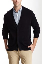 Vince Dry Hand Cotton Long Sleeve Cardigan Blue