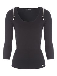 Jane Norman Black 3 4 Sleeve Jumper