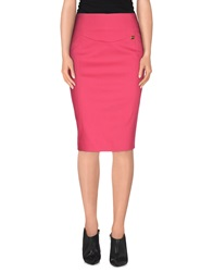 Liu Jo Knee Length Skirts Fuchsia