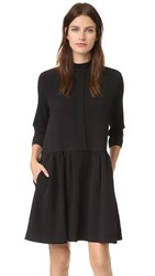 Ganni Clark Dress Black