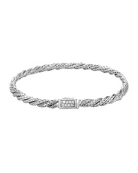 John Hardy Classic Chain Slim Twisted Diamond Bracelet