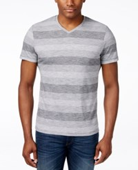 Alfani Red Men's Big And Tall Micah Stripe V Neck T Shirt Only At Macy's Shadow Ground
